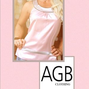 3/$25🌸🌸AGB Pink and Gray Blouse